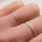punzierte Ringe aus Silber und Gold