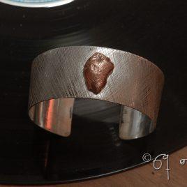 Armreif Sterlingsilber, Kupfernugget