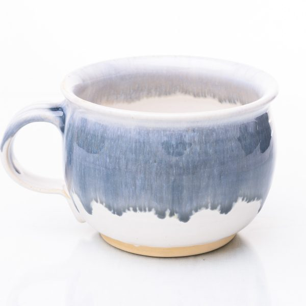 Keramiktasse, blau